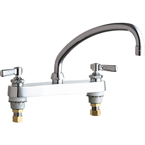 Chicago Faucets - 527-L9ABCP - 8-inch Deck Mounted Sink Faucet
