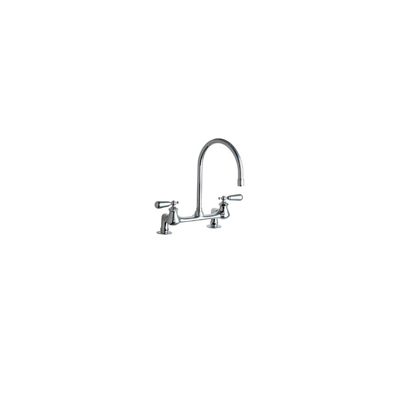 Chicago Faucets   540 LDGN8AE3 374SSJKABCP   8 Inch Bridge Style Kitchen  Faucet