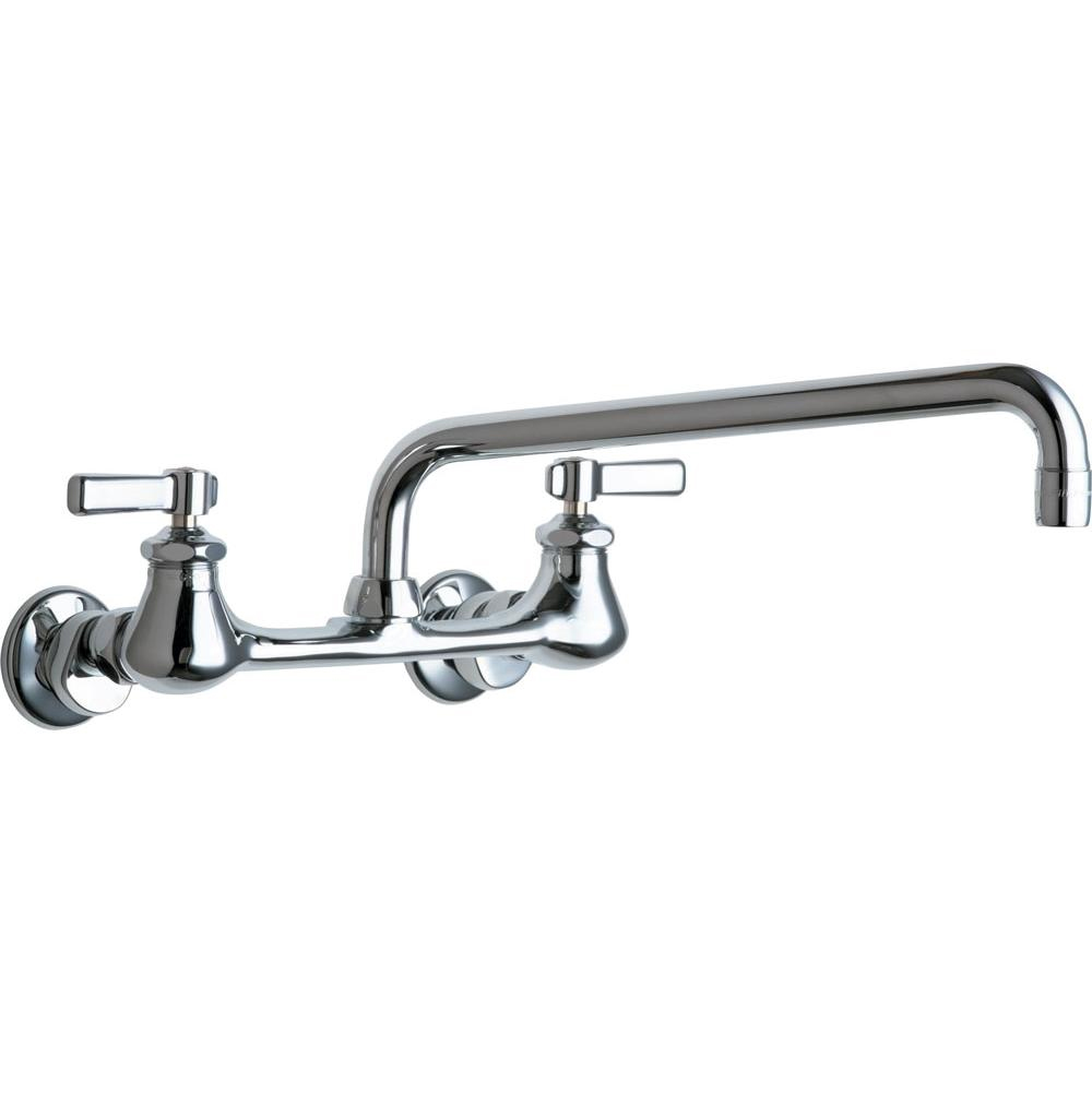 Chicago Faucets 540-LDL12ABCP WALL MOUNTED SINK FAUCET