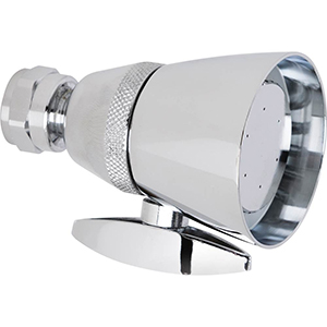 Chicago Faucets 622-LCP 1.5 GPM Max. Flow Rate @ 80 PSI Shower Head, 1.5 GPM Max. Flow Rate @ 80 PSI