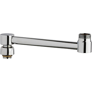 "Chicago Faucet 686-124KJKABCP - 7"" Spout Extension, Polished Chrome"