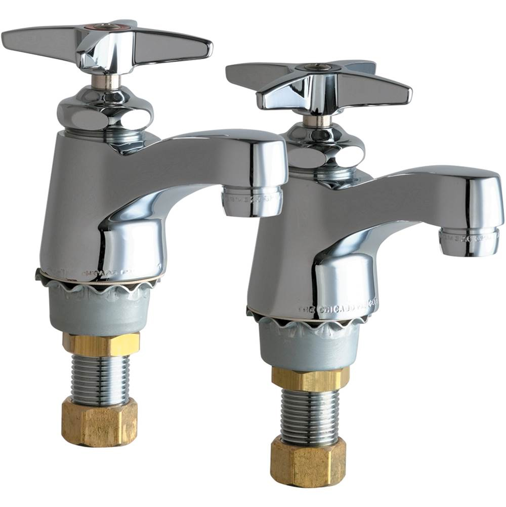 Chicago Faucets - 700-PRABCP Single Supply Hot / Cold Water Basin ...
