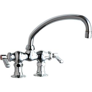 Chicago Faucets - 772-L9ABCP - 3-3/8-inch Center Deck Mounted Sink Faucet