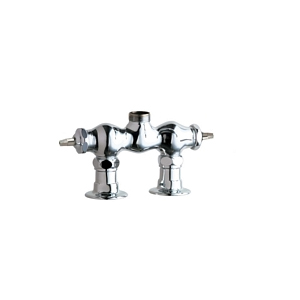 Chicago Faucets - 772-LESSSPTLESSHDLCP - 3-3/8-inch Center Deck Mounted Sink Faucet, No Spout - No Handles