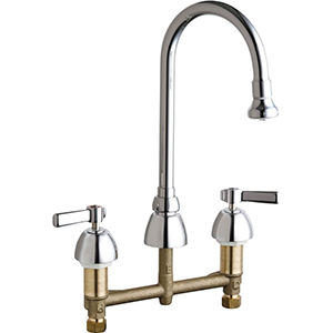 Chicago Faucets - 786-369ABCP - Widespread Lavatory Faucet