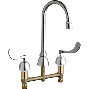 Chicago Faucets - 786-E29VPXKABCP - Widespread Lavatory Faucet