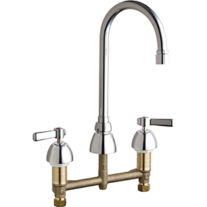 Chicago Faucets - 786-E3-369VPAABCP - Widespread Lavatory Faucet