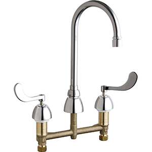 Chicago Faucets - 786-E3VPACP - Widespread Lavatory Faucet