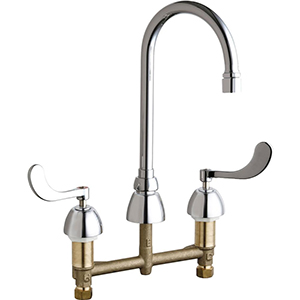 Chicago Faucets - 786-E3VPCABCP - Widespread Lavatory Faucet
