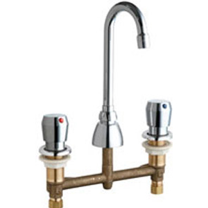 Chicago Faucets 786-GN1AE3-665AB - CONCEALED KITCHEN SINK FAUCET