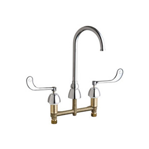 Chicago Faucets - 786-GN2FC319CP - Widespread Lavatory Faucet