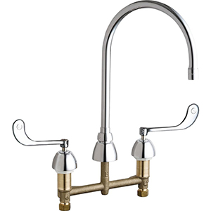 Chicago Faucets - 786-GN8AE3-319CP - Widespread Lavatory Faucet