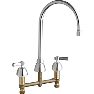 Chicago Faucets - 786-GN8AE3-369VPAAB - Widespread Lavatory Faucet