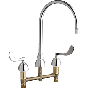 Chicago Faucets - 786-GN8AE3VPCCP - Widespread Lavatory Faucet