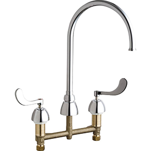 Chicago Faucets - 786-GN8FCXKCP - Widespread Lavatory Faucet