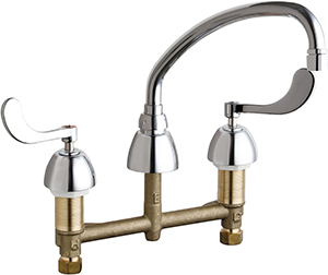 Chicago Faucets 786-RSL9E35VP317AB - CONCEALED KITCHEN SINK FAUCET