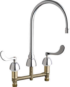 Chicago Faucets 786-RSGN8AE3VP317CP - CONCEALED KITCHEN SINK FAUCET