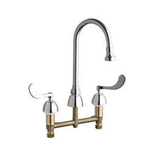 Chicago Faucets - 786-VPHCP - Widespread Lavatory Faucet