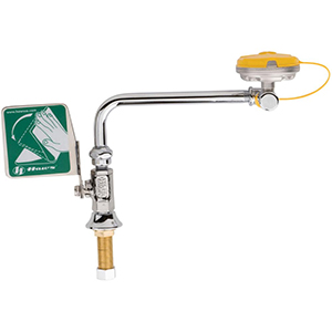 Chicago Faucets 8004-LHNF - Deck Mounted Left Hand Eye and Face Wash Fitting with Push Paddle Handle