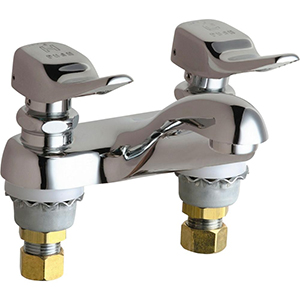 Chicago Faucets - 802-336CP - Lavatory Fitting, Deck Mounted 4-inch CCCC