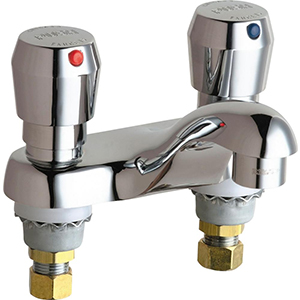 Chicago Faucets - 802-V665ABCP - E-Cast Lead Free Faucet