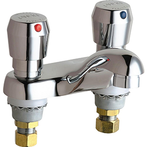 Chicago Faucets - 802-VE2805-665CP - 4-inch Center Lavatory Faucet