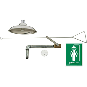 Chicago Faucets 8101-NF - Concealed Safety Drench Shower with Stainless Steel Pull Rod