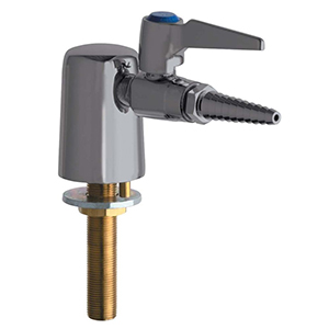 Chicago Faucets 980-VR909CAGSAM - Turret with Single Ball Valve and Inlet Supply Shank with Chemical Resistant Satin Antimicrobial Finish